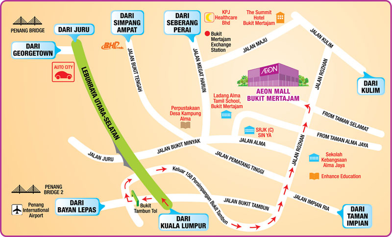 AEON MALL ALMA MAP